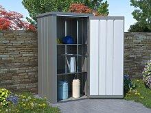 Garten-Aufbewahrungsschrank LAUP - Stahl - Grau -