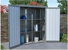 Garten-Aufbewahrungsschrank SEVY - Stahl - Grau -
