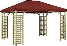 Garten Balkon Pavillon 4 x 3 m Bordeauxro
