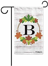 Garten Banner,Willkommen Herbst Kranz Monogramm B