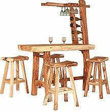 Garten-Bar Teakholz Bar Gartenmöbel Möbelset Hausbar Tresen