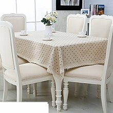 Garten Baumwolle Leinen Tisch Tuch,Tischtuch,Längliche Tee Tischdecke,Runder Tischdecke Schal-B 90x150cm(35x59inch)