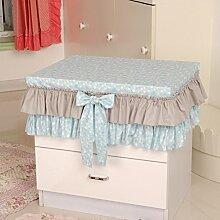 Garten-bett-Abdeckung,Nachttisch Abdeckung,Head Cabinet Set Tischtuch Cover Tisch Tuch Staub-A 30x40cm(12x16inch)