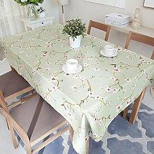 Garten Blume Tischtuch,Stoff-tischwäsche,Tischtuch-A 140x140cm(55x55inch)