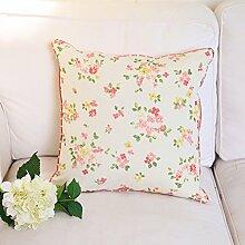 Garten Blumen Sofakissen/ Polyester-Kissen/ Bett Umarmung Kissenbezug-A 30x45cm(12x18inch)