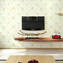 Garten Blumen Vlies-Tapete Schlafzimmer Wohnzimmer Tapete TV Kulisse Tapete-D