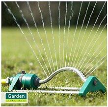 Garten Bügelregner Rasensprenger Viereckregner Regner Gartenbewässerung, 18-Loch