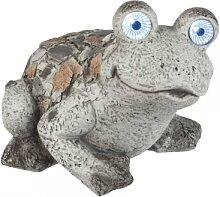 Garten Deko Figur Frosch mit Solarlicht Stein Mosaik  H. 26cm L. 35cm Formano (45,00 EUR / Stück)