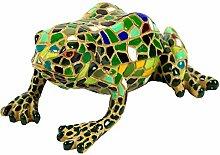 Garten Deko Figur Mosaik Frosch in Grün