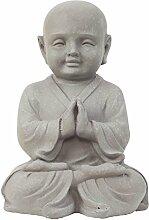 Garten Deko Figur Shaolin Mönch Buddha Betend