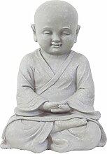 Garten Deko Figur Shaolin Mönch Buddha Meditieren