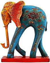 Garten Deko Figuren Elefant Bunt 36cm groß aus