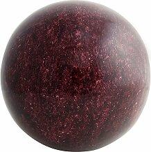 Garten Deko Kugel Roter Marmor Effect aus Edelstahl (22cm)