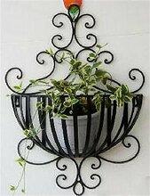 Garten Eisen Blumentöpfe Regal Europäische Kreative Pflanze Stand Wohnzimmer Balkon Blumenregal (farbe : Schwarz)