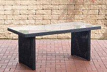 Garten Esstisch Fontana 180 x 90 cm-rund_schwarz