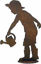 Garten Figur auf Platte - Material: Rost - Kind