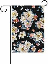 Garten Flagge Vintage Land Blumen Blumen Hof