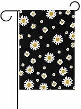 Garten-Flaggen, Gänseblümchen, Blumenmuster,