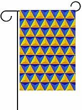 Garten-Flaggen, geometrisches Dreieck –
