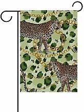 Garten-Flaggen, Leoparden-Tier, festliches Banner