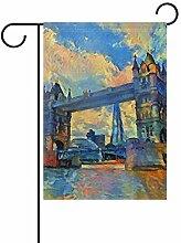 Garten-Flaggen London Tower Bridge – festliches