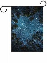 Garten-Flaggen The Milky Way Forest – festliches