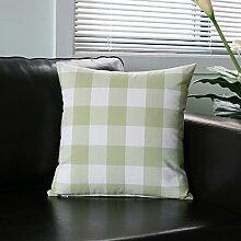 Garten frische Streifen Sofakissen Office Sofakissen Auto-Taille-D 50x30cm(20x12inch)VersionA
