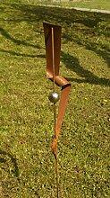 Garten Gartendeko Rost Eisen Stecker mit1