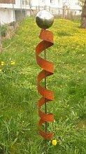Garten Gartendeko Rost Stecker 150cm mit 1