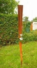 Garten Gartendeko Rost Stecker mit 2 Glanz