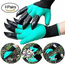 Garten Genie Handschuhe ABS Kunststoff Klauen Gartenhandschuhe für Pflanzen Graben und Jäten
