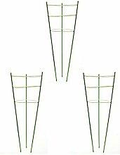 Garten-Gitter Pflanze Käfig Pflanze Unterstützung grün, Set 3