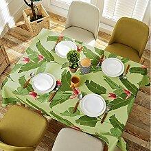 Garten grün pflanze tisch tuch,nordic american village rechteckig kreatives wohnzimmer,untersetzer-D 120x120cm(47x47inch)