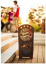 Garten Himmel FC Bayern München Feuerkorb Fans