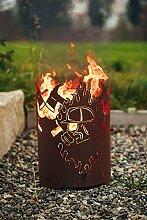 Garten Himmel Feuerkorb Atemschutz rund