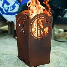 Garten Himmel Schalke 04 Feuerkorb eckig