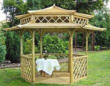Garten-Holzpavillon, umwerfende japanische Pagode, sechseckig, Durchmesser 2,5m (außen 3,5m)