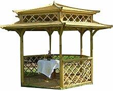 Garten-Holzpavillon, umwerfende japanische Pagode,