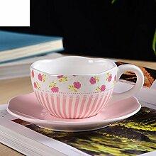 Garten Kaffee Tassen-Set kreative Milch Tasse der Liebhaber Tassen-A