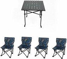 Garten-Klapptisch und Stuhl Set, im Freien