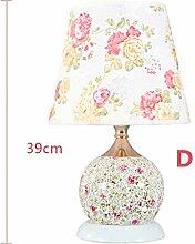 Garten Lampe Schlafzimmer, Dual-Schalter Dekorative Lampe, Luxus Hotel Lampe Schreibtischlampe ( farbe : D )