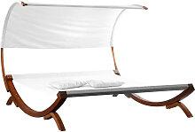 Garten-Liegestuhl Doppel-Sonnenliege BREHAT