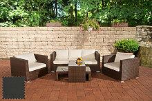 Garten Lounge-Set Malolo-braunmeliert-Anthrazit