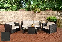 Garten Lounge-Set Malolo-schwarz-Anthrazit