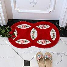 Garten Matten Rose Fußmatten Badezimmer wasserabsorbierenden Matte Terrasse Küche Bodenmatte Bett Matten-N 45x75cm(18x30inch)