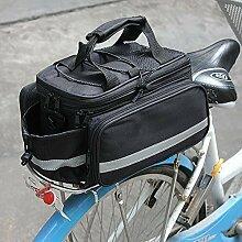 Garten Mile® Erweiterbar Schwarz Bike Fahrrad Aufbewahrung Paar Sattel hinten Sitz Reisetasche + Regenschutz