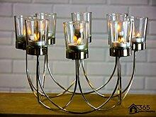 Garten Mile® Schönes Teelicht Glas Kerzenhalter