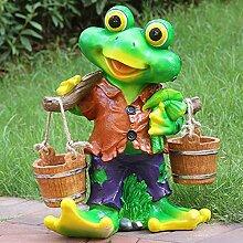 Garten Ornamente Frosch Picking Skulptur