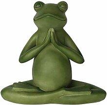 Garten Ornamente Kreative Yoga-Frosch-Skulptur mit