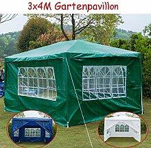 Garten-Pavillon 3 x 4 m, wasserdicht, inklusive 3
